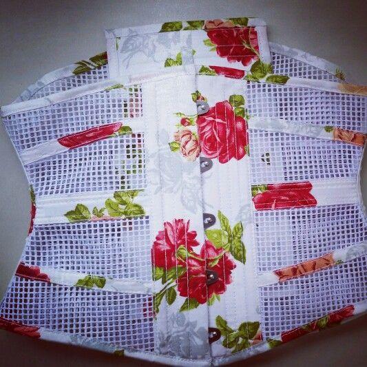 Waist cincher em tela de algodão   Www.dobalakobako.com