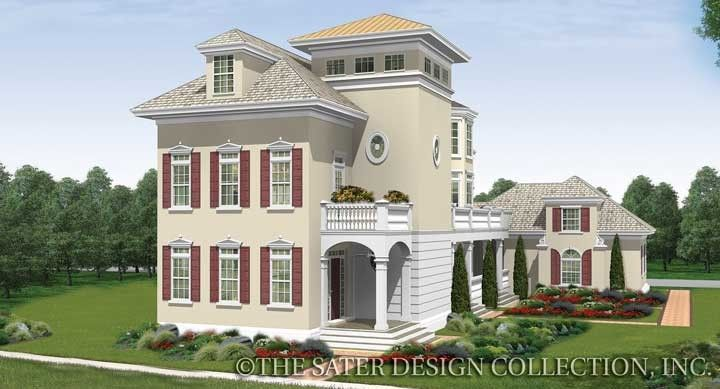 Sater design 39 s berkshire bluff home plan from our - Traditional neighborhood design house plans ...