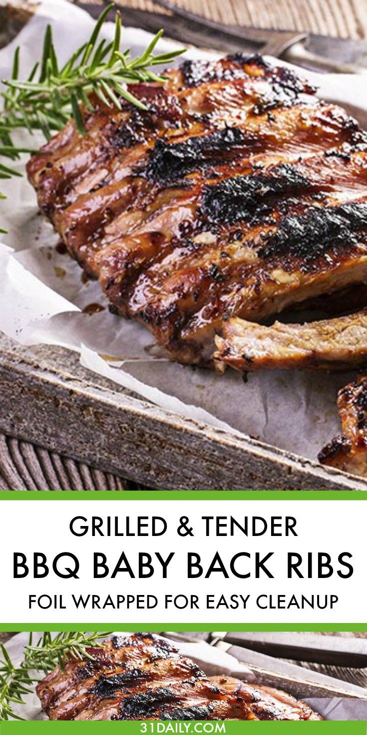 Grilled and Tender Foil Wrapped BBQ Baby Back Ribs | 31Daily.com