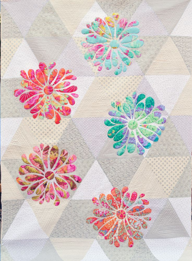 My Flower Bloom Applique Quilt Pattern At Passionately