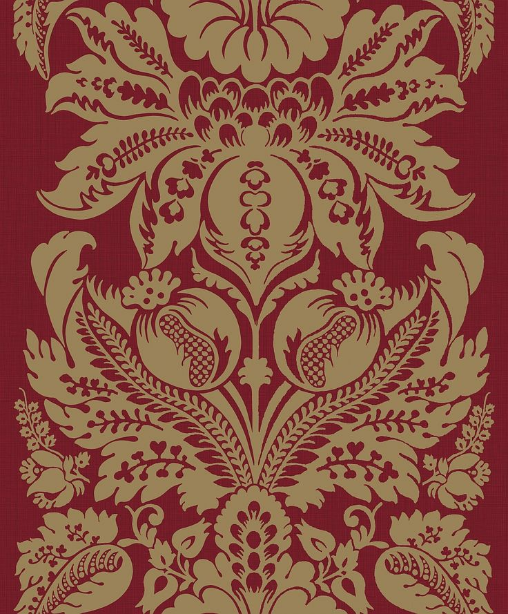 Teramo Damask Regal Red wallpaper by Arthouse