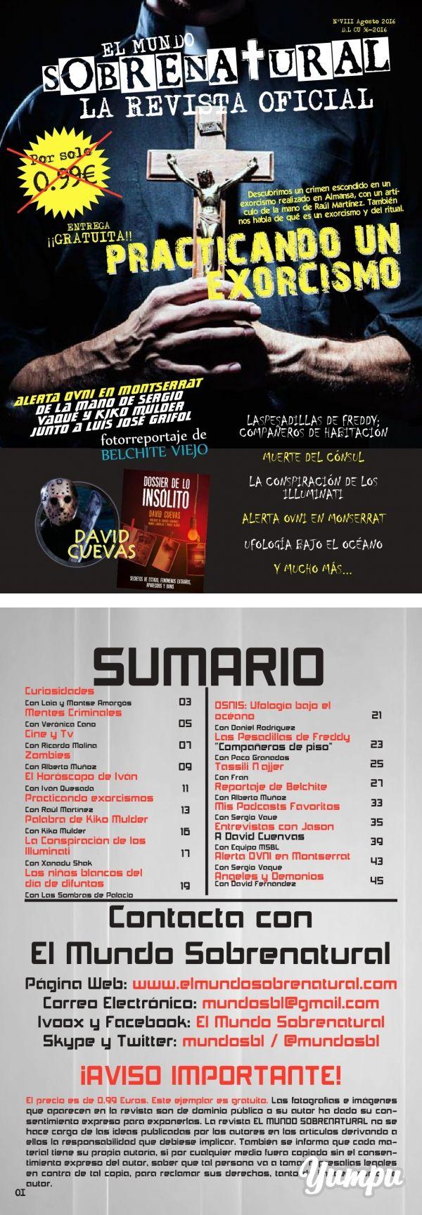 El Mundo Sobrenatural Agosto 2016 - Practicando un exorcismo - Magazine with 47…