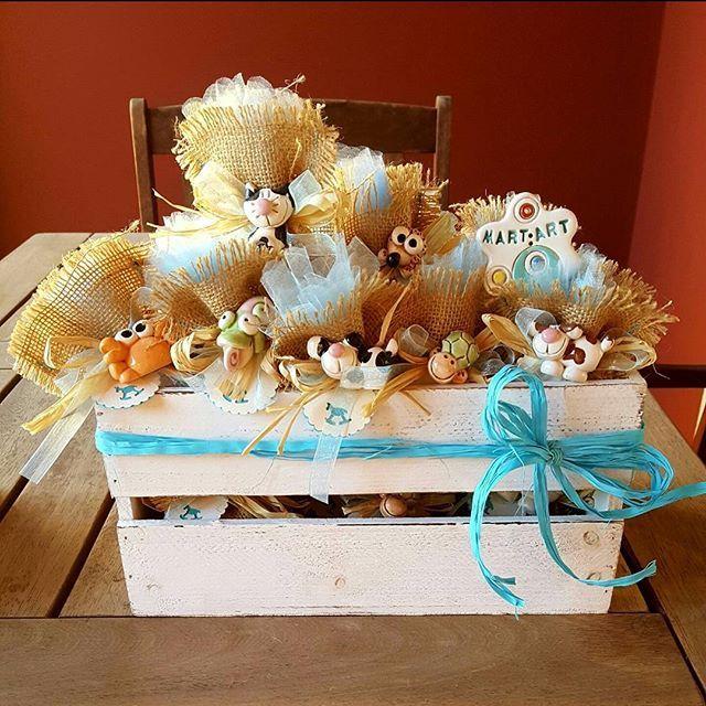 # Quasi come un Arca di Noè # una #cassetta # piena di# animaletti #cane #dog🐾# gatto#tartaruga# riccio#granchio #coccodrillo#coccinella# #camaleonte#bomboniere #battesimo #confettata #ceramicheartigianali #ceramicaartistica #ceramicartist #handmed #argilla #terracotta #artigianato #fattoamano #lemaddine #creativemamy #percorsicreativi #creatività #creativity #mammecreative #spilloemirtillo #