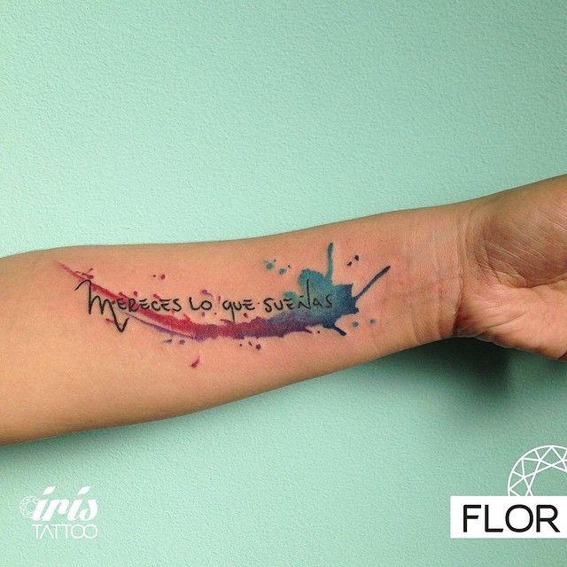 """Tattoo by Flor  mereces lo que sueñas #iristattoo #tattoo #tatuaje #ink #tattoopalermo #tattoobuenosaires #palermo #buenosaires #acuarela…"""