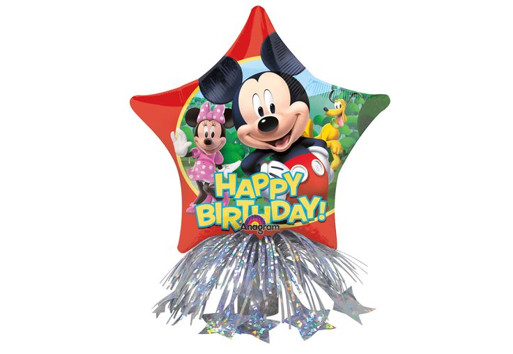 CENTRE DE TABLE MYLAR - MICKEY HAPPY B-DAY