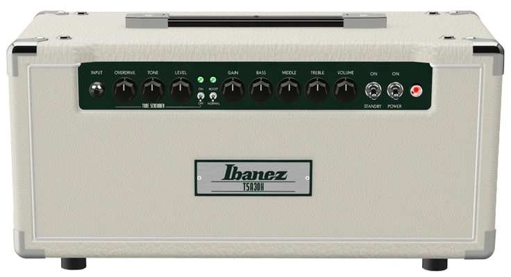 TSA30H: Ibanez Tubescreamer amps can create natural clean sounds, fat crunch tones, and even warm smooth overdrive tones with the modified Tube Screamer circuit built right into the amp. The new TSA30 30W Tube Amp features a full 3 band EQ and seperate volume and gain controls for distortion at any level. Pre amp distortion, power amp distortion, Tube Screamer distortion, It's all in there