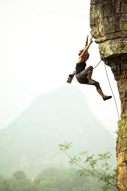 deargeorgegray:  baaconnn:  a-bit-apolaustic:  Whipper by kaare.iverson on Flickr.  lead climbing scares me. i'd shit myself until that rope pulls tight.  LOL the caption.
