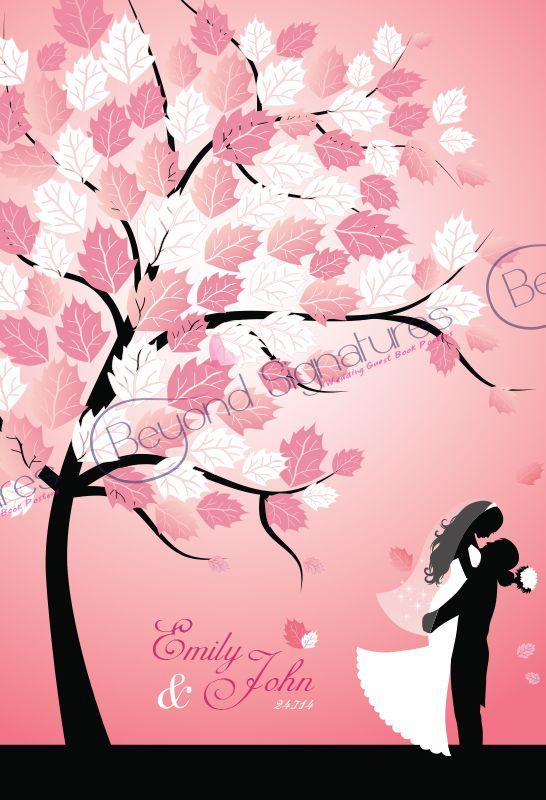 Wedding Guest Book Alternative - Sign on the leaves beyondsignatures.com
