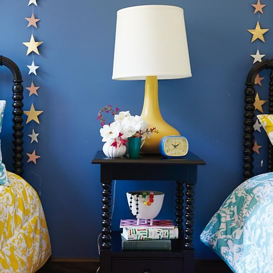 This lamp screams - HAPPY. Kids' Lighting: Kids' Ceramic Yellow Table Lamp | The Land of Nod. #NodWishlistSweeps