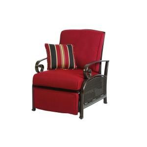 I want this!  Martha Stewart Living Cedar Island All-Weather Wicker Patio Recliner with Dragon Fruit Cushion-DY4035-RC at The Home Depot