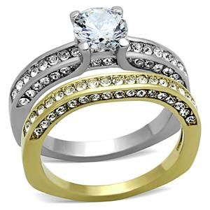 Metal Stainless Steel Finish IP Gold Ion Plating Stone Cubic Zirconia Size Of Find This Pin And More On Affordable Wedding Ring Sets