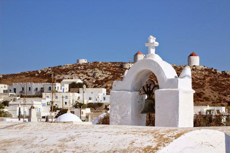 Amorgos, clochers et moulins dans la Chora