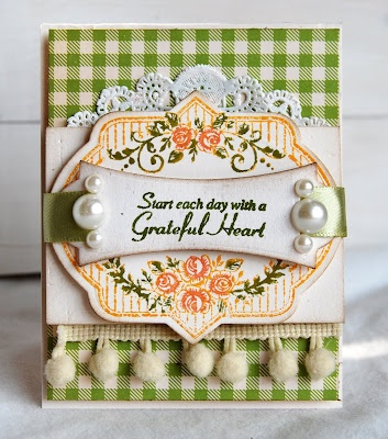 Uses @JustRite Papercraft, Inc.new stamp set, Vintage Rose Medallions and @Spellbinder's Ribbon Tag Trio and  the Nested Oval Die