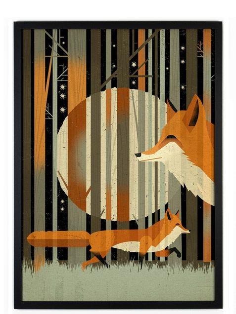 Dieter Braun Fox in the night Poster