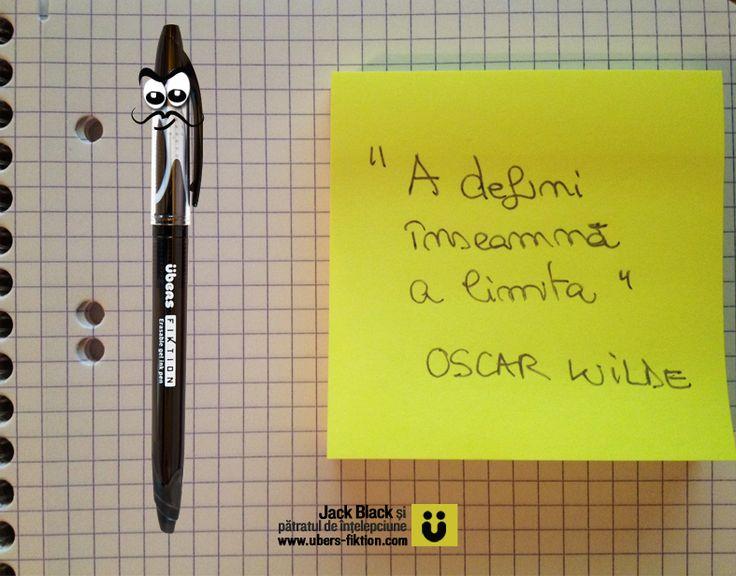 """""""A defini înseamnă a limita"""" (Oscar Wilde) sau """"eu nu strivesc corola de minuni a lumii"""" (Lucian Blaga)  #patratuldeintelepciune #jackblack #ubersfiktion #citate #oscarwilde #lucianblaga"""