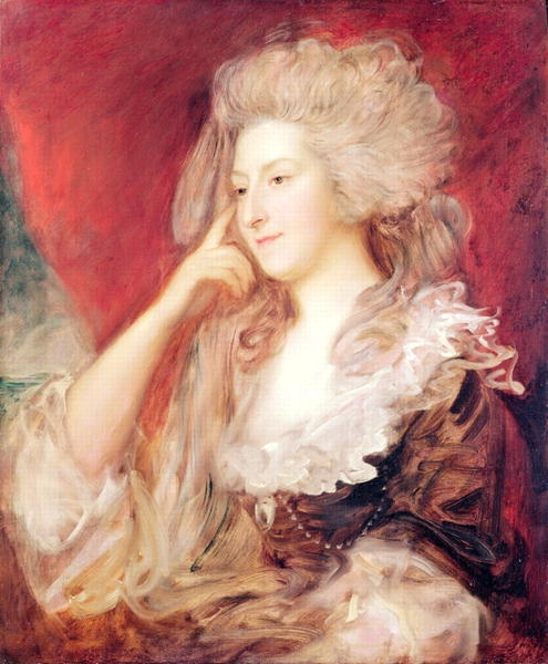 Mrs. Fitzherbert; by Thomas Gainsborough. Maria Fitzherbert was the secret and unlawful wife of the George IV while he was still the Prince Regent.