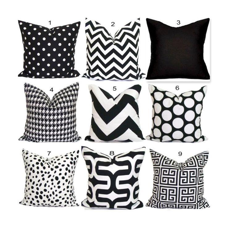 Black Pillows Black Pillow Covers Black Decorative Pillows