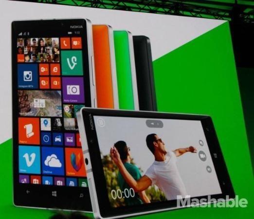 Microsoft demoed the new Nokia Lumia 930 at the company's Build conference.