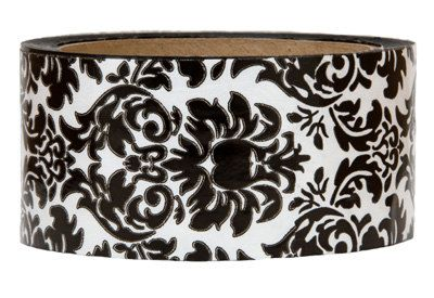 Tape-Black Damask