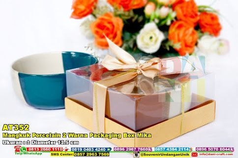 Mangkuk Porcelain 2 Warna Packaging Box Mika Hub: 0895-2604-5767 (Telp/WA)#MangkukPorcelain2WarnaPackagingBoxMika #souvenir #souvenirPernikahan