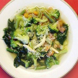 Минестроне с брокколи и шпинатом рецепт – итальянская кухня, вегетарианская еда: супы. «Афиша-Еда»