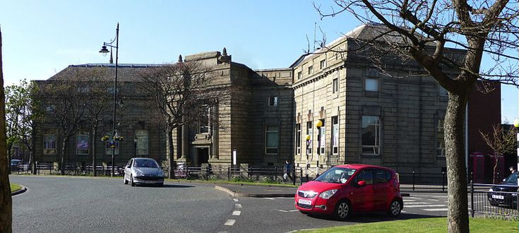 Barrow-in-Furness Main Public Library Known as Barrow Central Library is in Ramsden Square, Barrow-in-Furness, UK