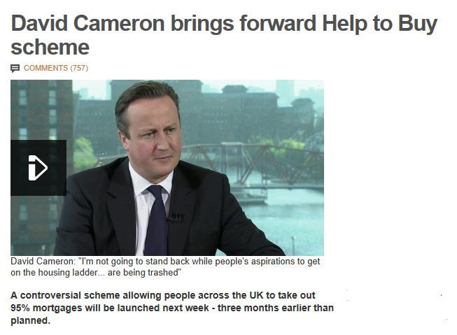 David Cameron brings forward Help to Buy scheme  http://www.bbc.co.uk/news/uk-politics-24319583