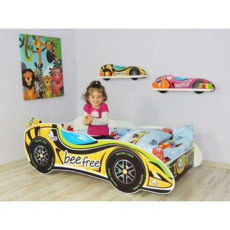 'Honey bee' racing car bed - for a girl or boy #toddler escaping the cot and driving off into sweet dreams - The Little Bedroom Company