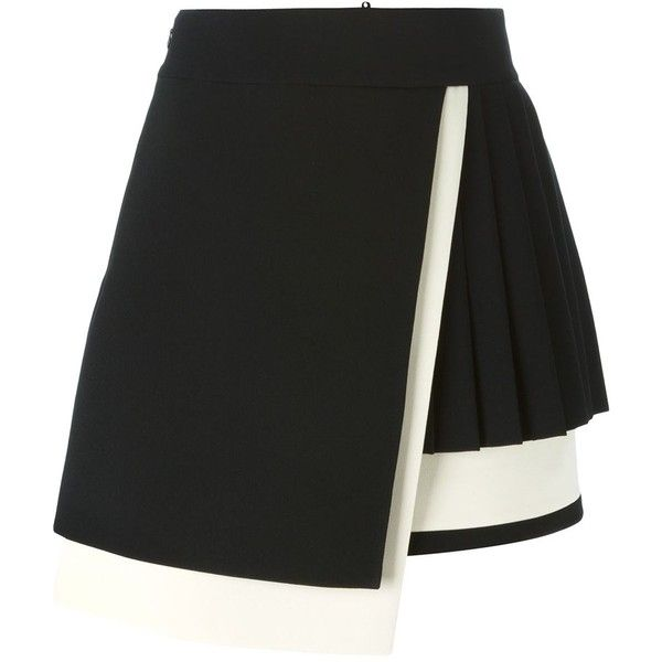 Fausto Puglisi wrap A-line skirt (100,835 DOP) ❤ liked on Polyvore featuring skirts, bottoms, black, knee length a line skirt, a line wrap skirt, a line skirt, fausto puglisi and wrap skirt