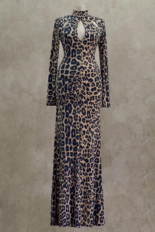 Вечернее платье: 51270 - http://vbelom.ru/catalog/vechernee-plate-51270/ Шикарное длинное вечернее платье.  Модель с потрясающим леопардовым принтом. Прекрасно облегает фигуру и дополнено разрезом от колена. Платье для настоящей королевы бала!