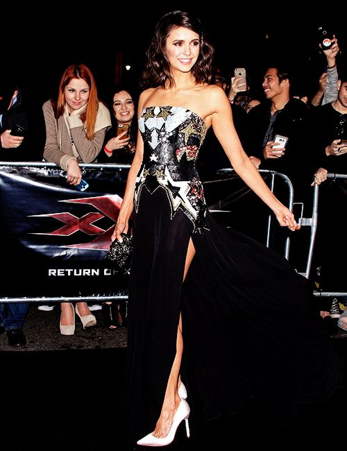 """Nina Dobrev attends the """"xXx: Return of Xander Cage"""" Premiere in Los Angeles, California on January 19, 2017"""