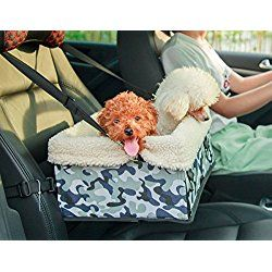 O-five Collapsible Portable Luxury Small Dog Booster Car Seat Basket Cage for Small Dogs-up to 18lbs