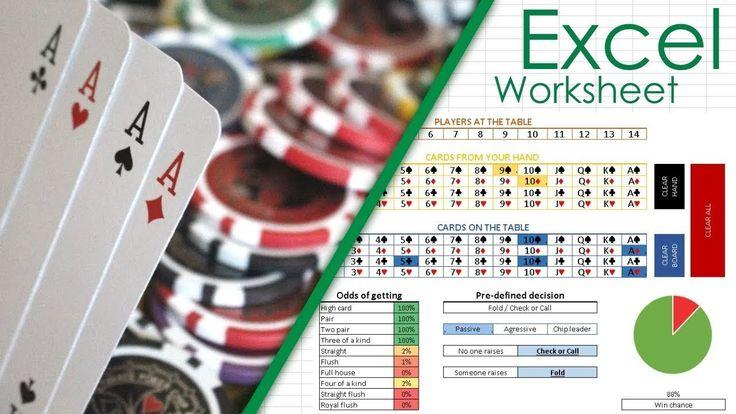 Poker odds spreadsheet spreadsheet spreadsheet template
