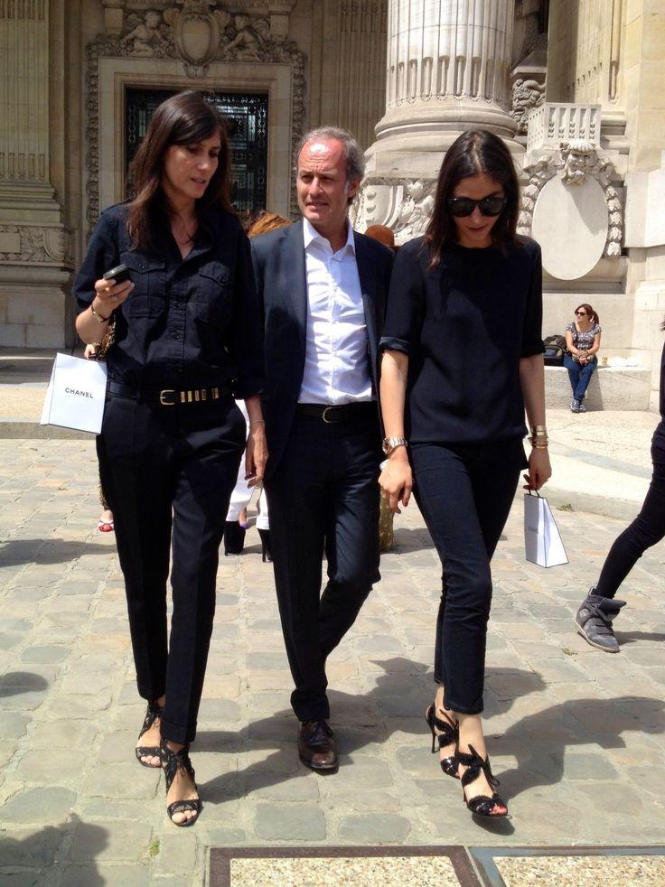 Emmanuelle Alt & friends....Fashion Weeks, Parisians Chic, Vogue Paris, Emmanuel Alt, Street Style, Style Icons, Habitually Chic, Emmanuelle Alt, French Style