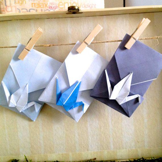 Piccole buste con gru Origami, matrimonio Escort Cards - favore imposta di 20 qualsiasi colore