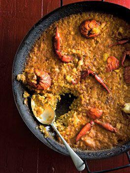 Arroz con bogavante (Rice with crayfish)