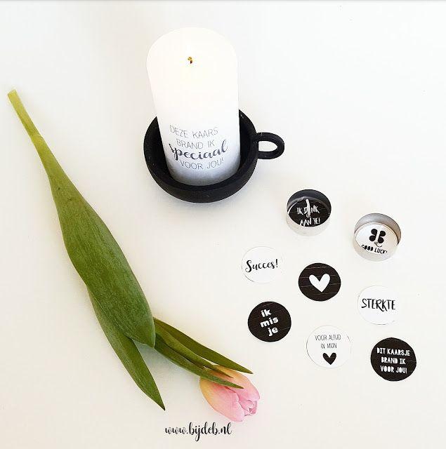 bijdeb: DIY tekst op kaars maken & waxine lichtjes mallen...