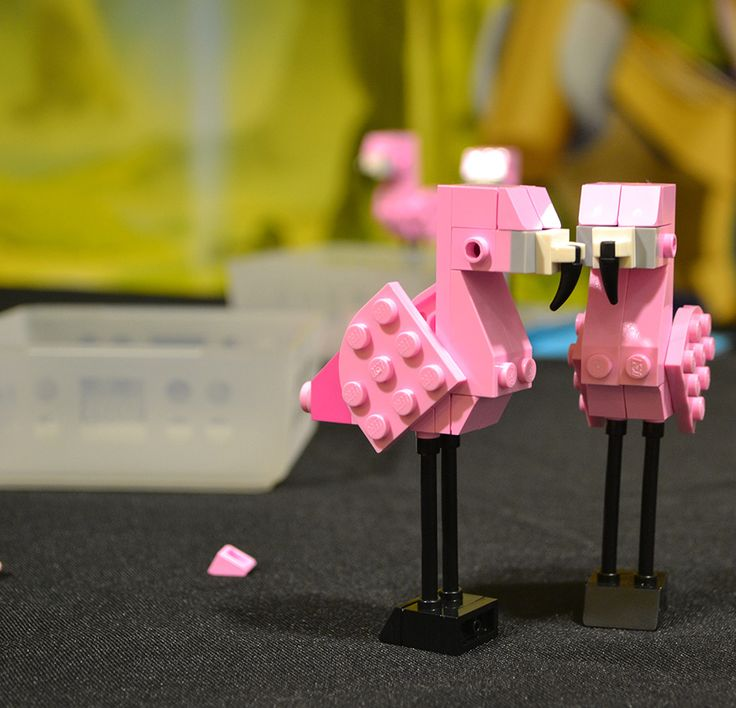 Lego Flamingo - Building Imagination with Monthly LEGO Mini Builds at Downtown Disney