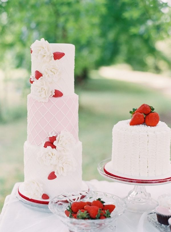 strawberry wedding cake! // photo by StewartLeishman.com // sweets by OneSweetGirl.com.au