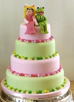 Love this but purple and green and just two tiers