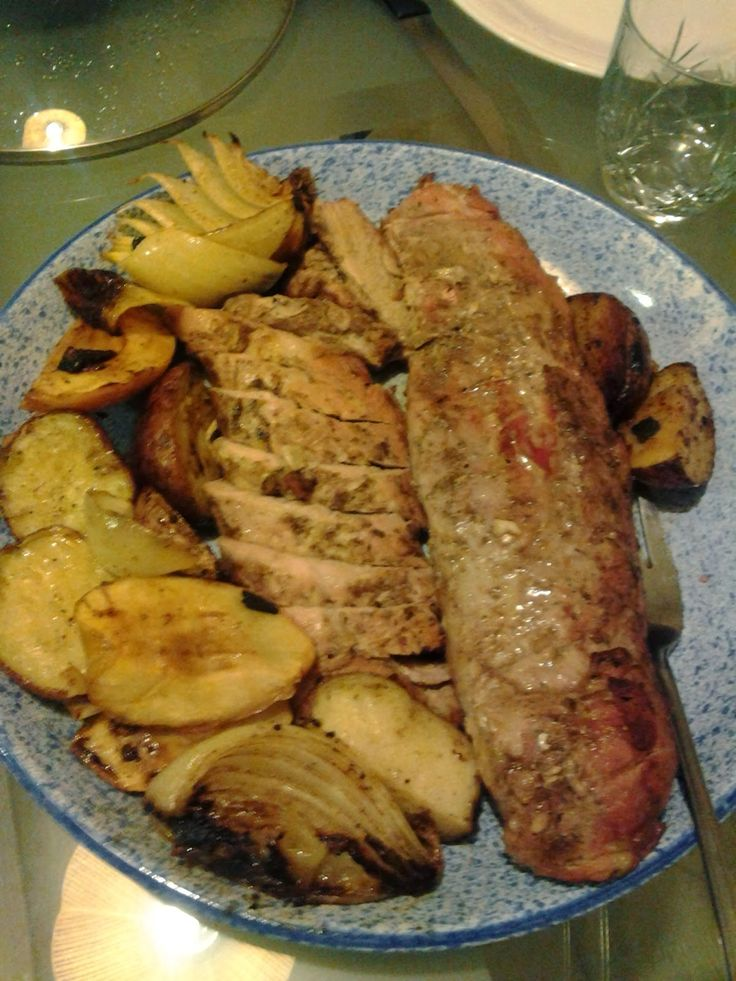 ... up a Little Italian Boy: Roast Pork Loin with Apples Potatoes and Sage