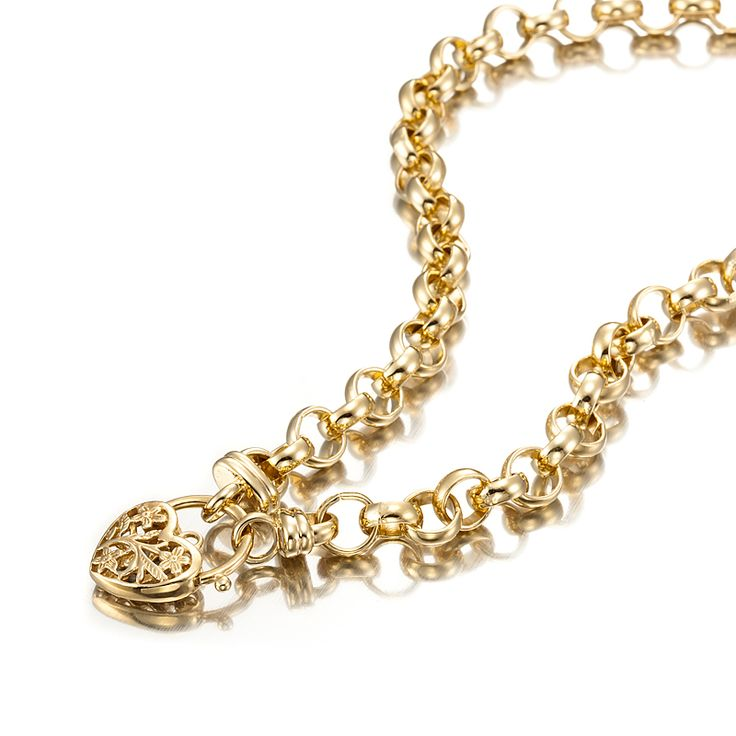 18ct Yellow Gold Layered Belcher Necklace with Filigree Locket | Allure Gold