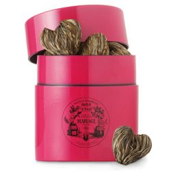 My husband and I love Marriage Freres French Blue Earl Grey. It is a staple item at  our house. I was just trying to order some more and found this amazing white tea buds. Marriage Freres introduced this amazing white tea bud for 2012 Valentine's Day. Just gorgeous, I must say.