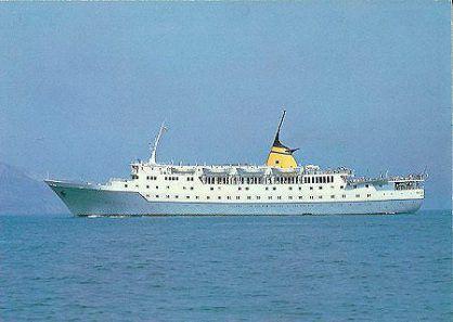 Cruise ship Aquarius, where Kavvadias boarded on May 1974