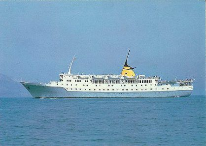 Cruise ship Aquarius, where Kavvadias boarded on May 1974