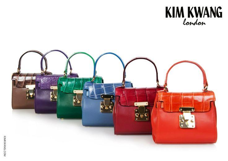 KIM KWANG Handbag   Genuine Alligator & Calf leather.