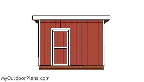 10x12 Shed With A Flat Roof Plans Front View Flat Roof Shed Flat Roof Shed With Loft