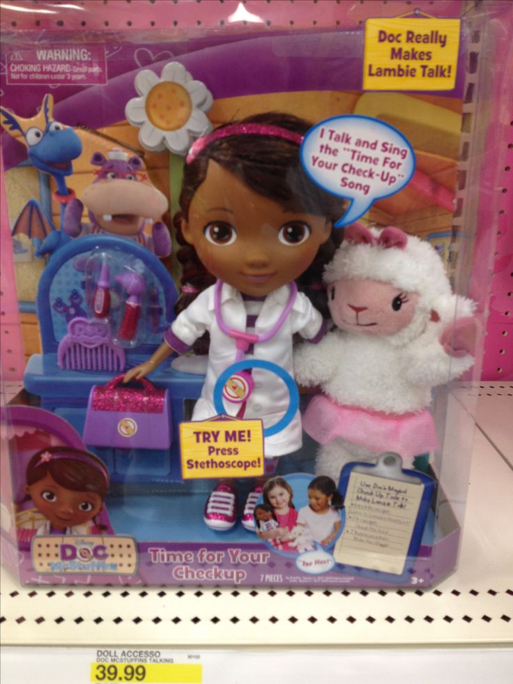 Doc mcstuffins talking doll!! I have to get this for my daughter! She loooves this show!