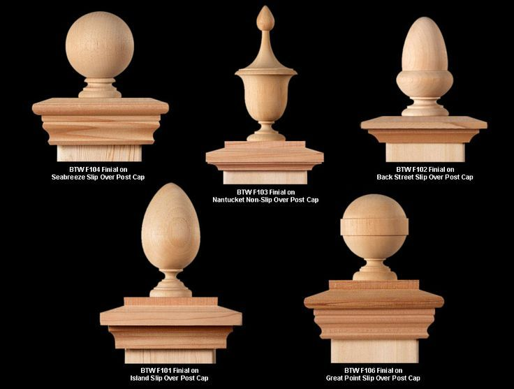 Decorative Post Caps Google Search Wood Turning Fence