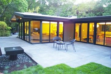 Mid Century Modern Eichler-esque Remodel Windows - contemporary - patio - san francisco - by Hart Wright Architects, AIA